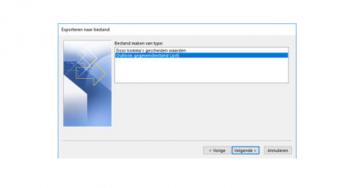 IMAP e-mail backuppen naar .PST bestand